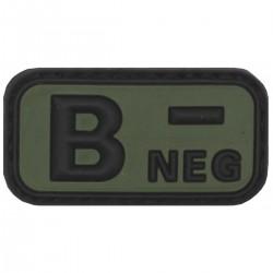 Nášivka krvná skupina B NEG