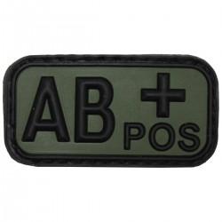 Nášivka krvná skupina AB POS