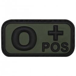 Nášivka krvná skupina O POS