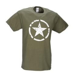 M-Tramp military - hviezda unisex tričko