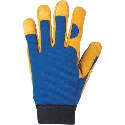 Rukavice pracovné AUGUST žlto-modré
