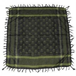 Šatka-šál Lebka,zeleno-čierna