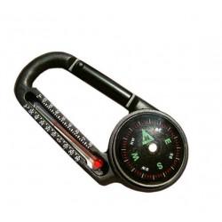 Kompas-karabinka PILOT mini s teplomerom