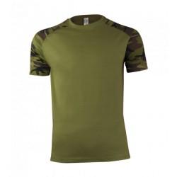 Tričko pánske - zelený maskáč
