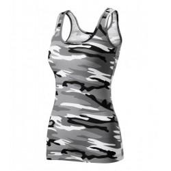 tielko damske camouflage gray