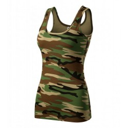 damske tielko camouflage brown