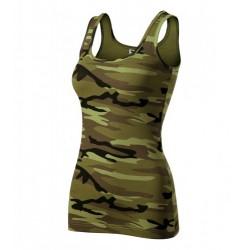 damske tielko camouflage green