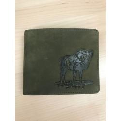 Peňaženka muflón - zelená