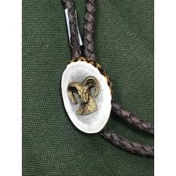 Poľovnícka kožená kravata - muflón