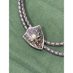 Poľovnícka kožená kravata - Sv. Hubert