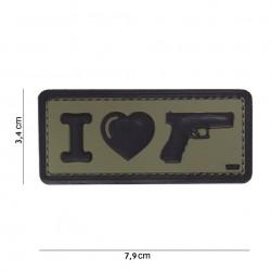 "Nášivka ""I Love Gun"""