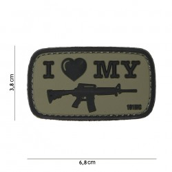 "Nášivka ""I Love Gun M4"""