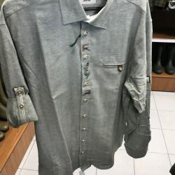 Poľovnícka košeľa pánska s výšivkou regular