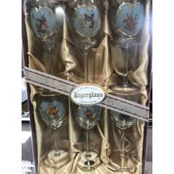 Poľovnícka súprava pohárov na víno, 6ks 250ml