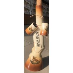 Keramická fľaša - puška + 2 štamperlíky