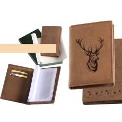 Peňaženka - dokladovka jelenia hlava