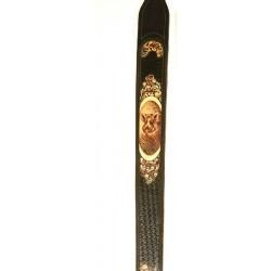 Kožený remeň na pušku maľovaný - diviak