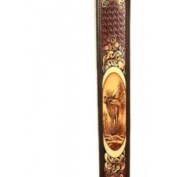 Kožený remeň na pušku maľovaný - jeleň