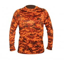 HART - tričko Aktiva L Pixel Blaze, oranžové
