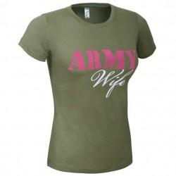 Dámske tričko ARMY WIFE, khaki