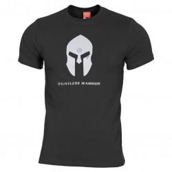 Pánske bavlnené tričko PENTAGON® Ageron Ring-spun Spartan helmet - čierne