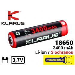 KLARUS akumulátor 18650 3400mah