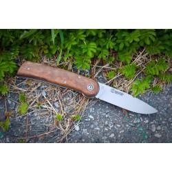 Nôž Kizlyar Bajker 1 - hnedý, drevený, zatvárací