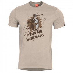 Pentagon SPARTAN WARRIOR tričko s potlačou - khaki