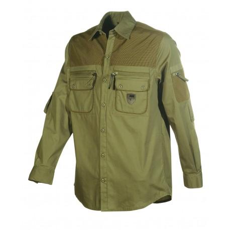 Pánska poľovnícka košeľa UNIVERS, tmavo-zelená DR