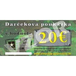 Darčekový poukaz v hodnote 20 €