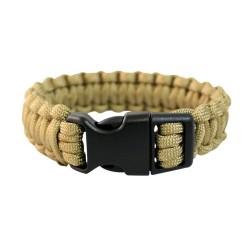 MIL-TEC Paracord Bracelet Coyote 15mm