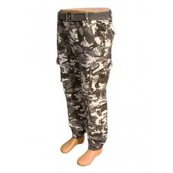 Maskáčové šedé nohavice Loshan