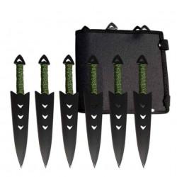 Sada TRIANGLE 6ks vrhacie nože